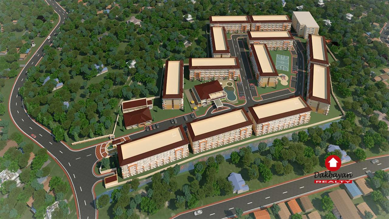 Aerial view of Arezzo Place Davao Condo