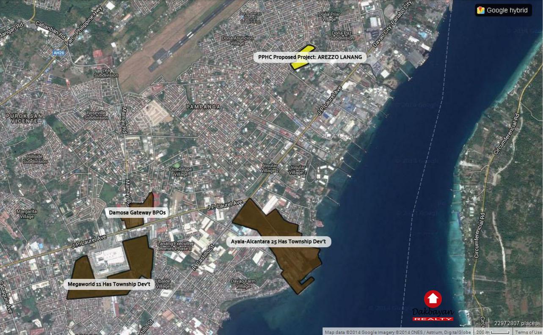 arezzo place davao condo location map