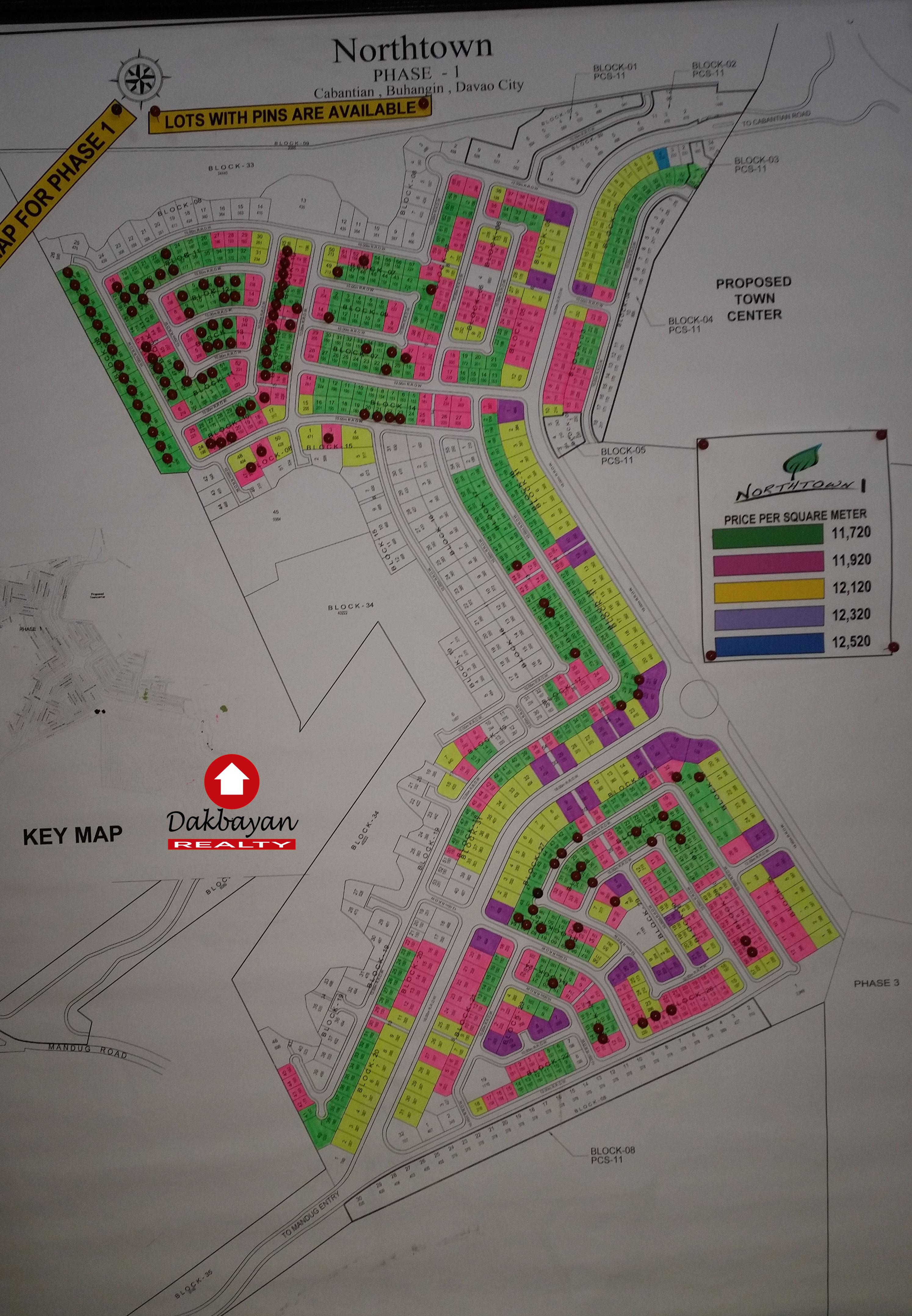 Site development map of Northtown