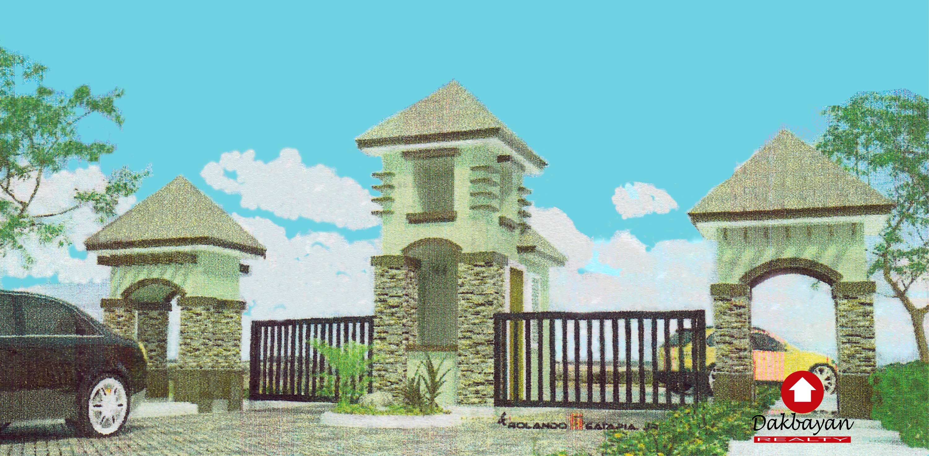 Architect's perspective of The Prestige Subdivision Entrance Gate