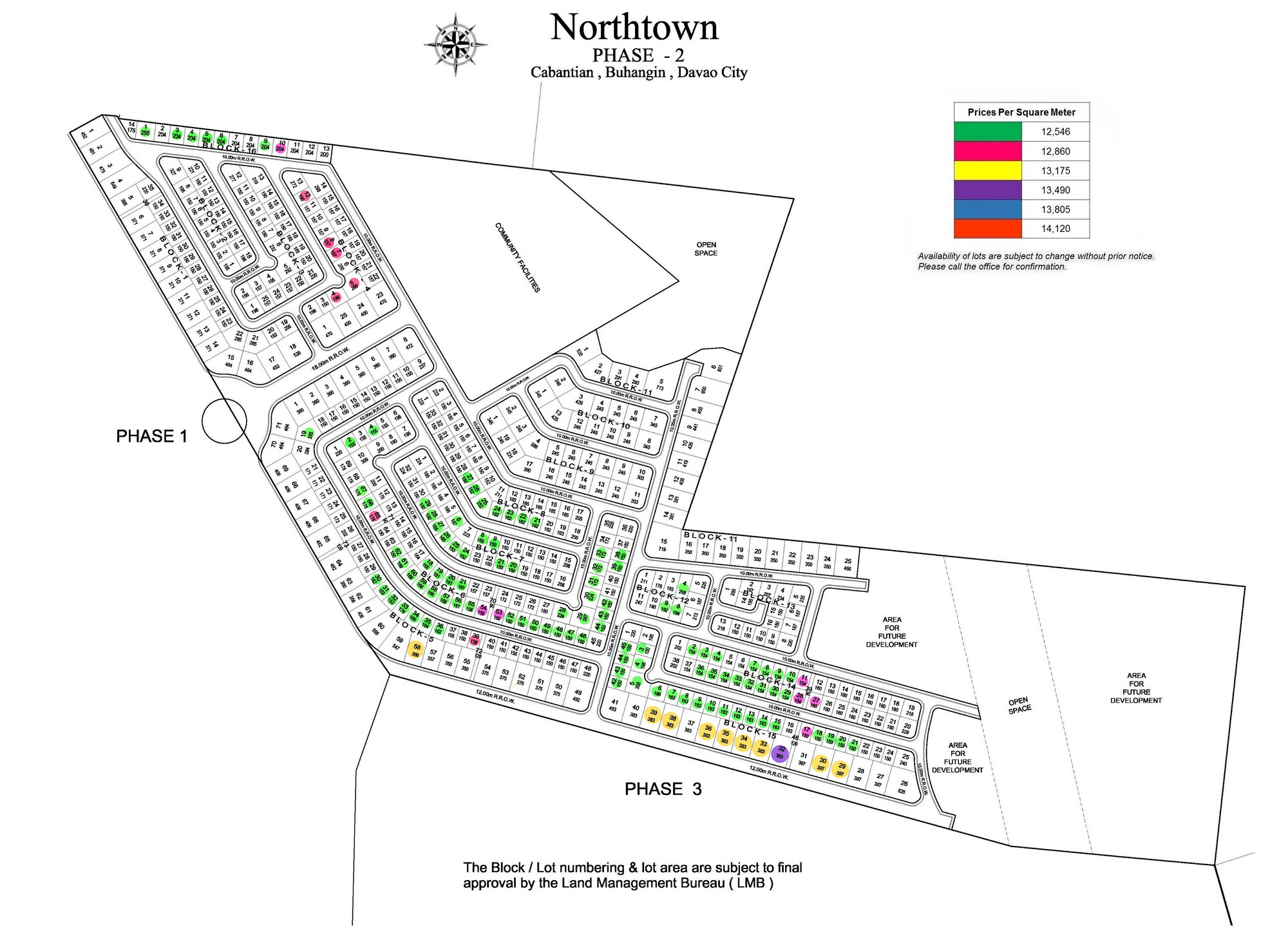 Northtown site development map of Phase 2