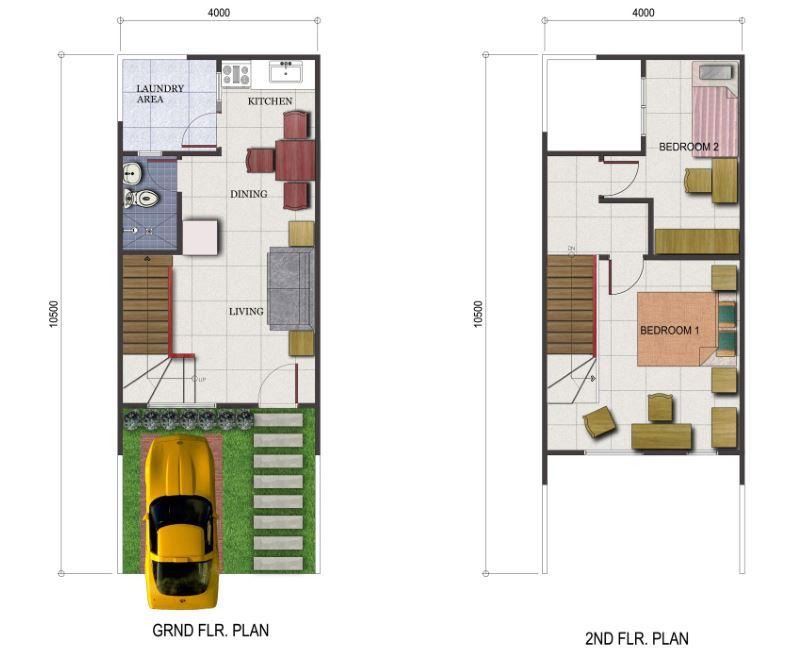 portville davao townhouse floor plan