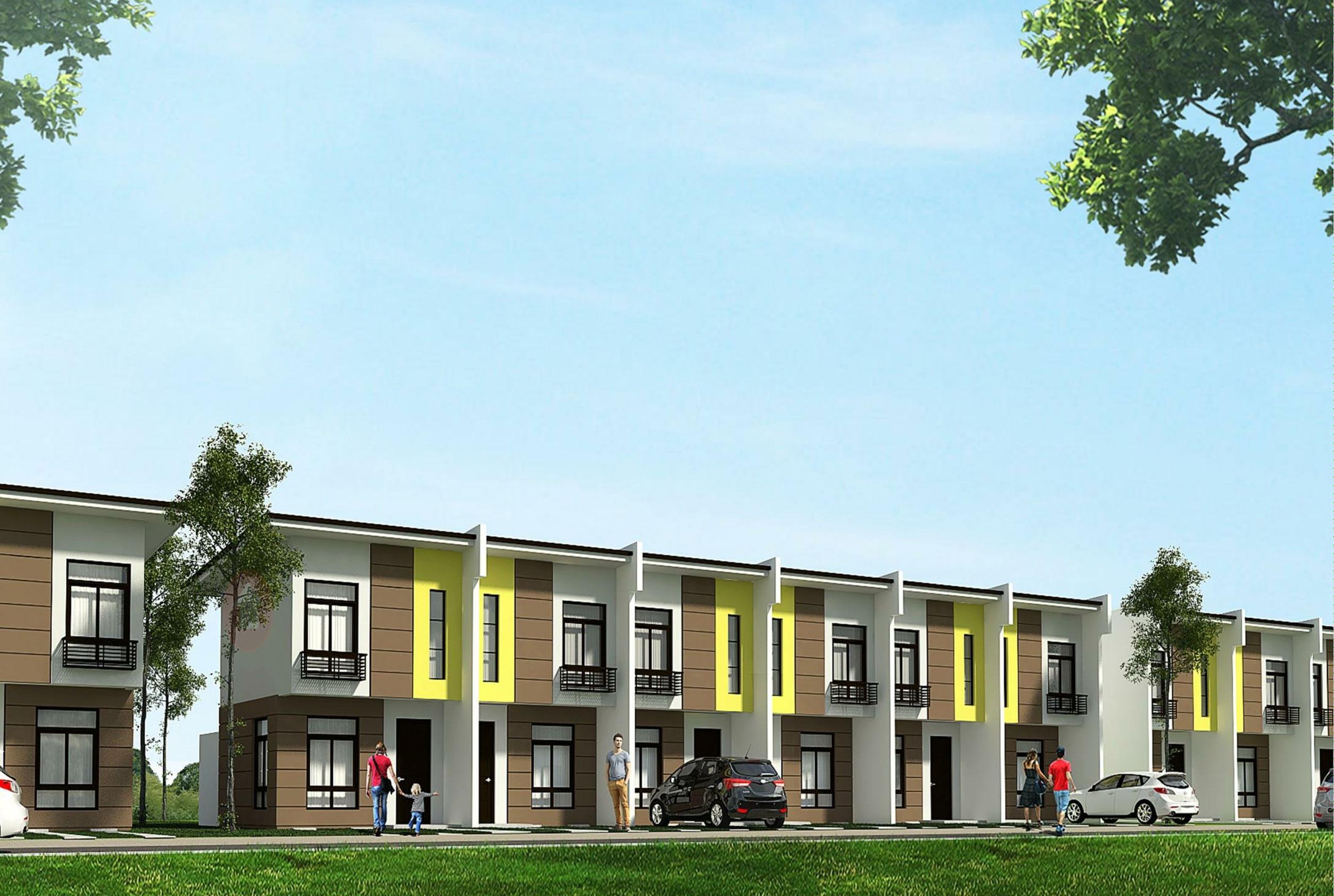 Evissa Davao Townhouse, achitect's perspective