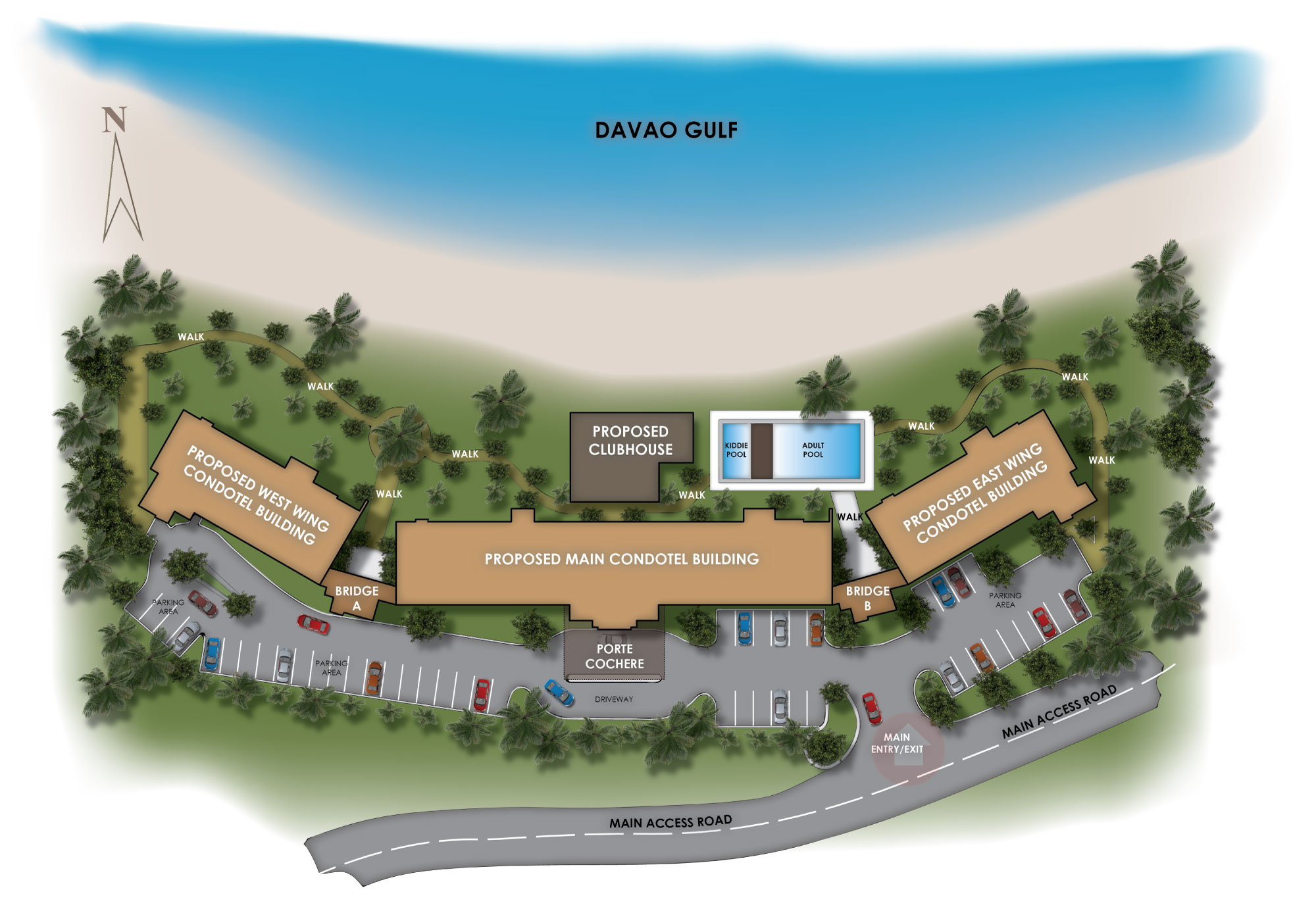 holiday oceanview residences site development plan