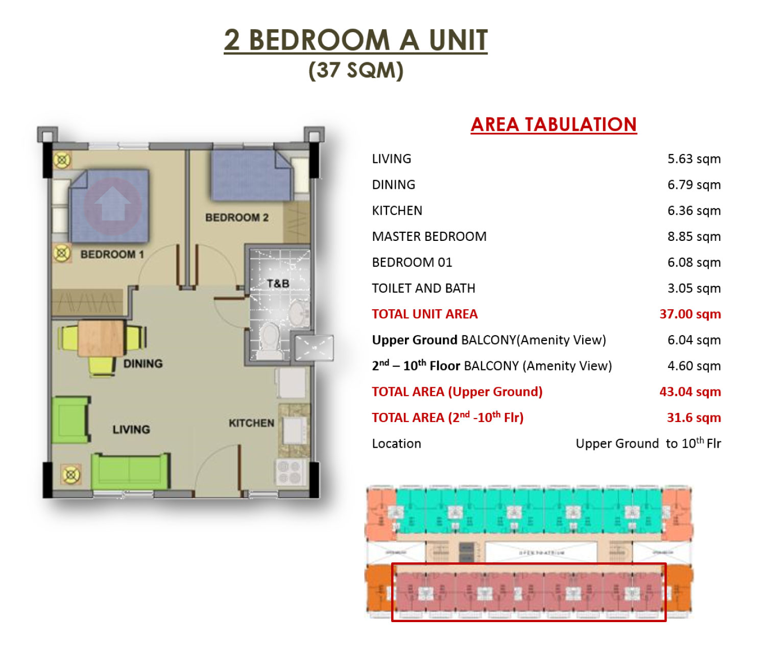 Camella northpoint close to town medium rise condominium for Condominium floor plan