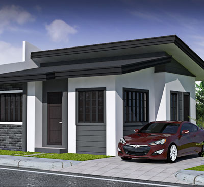 artist rendering of Diantha-A model house in CrestView Homes Davao Subdivision