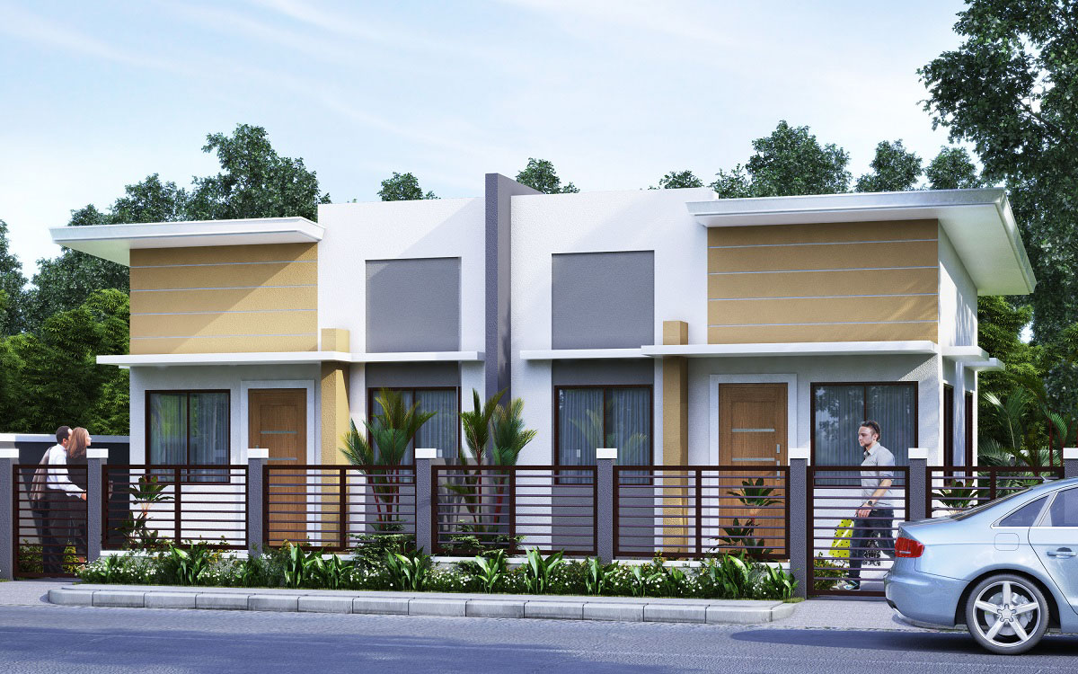 Granville iii subdivision economic and socialized housing for Duplex house models