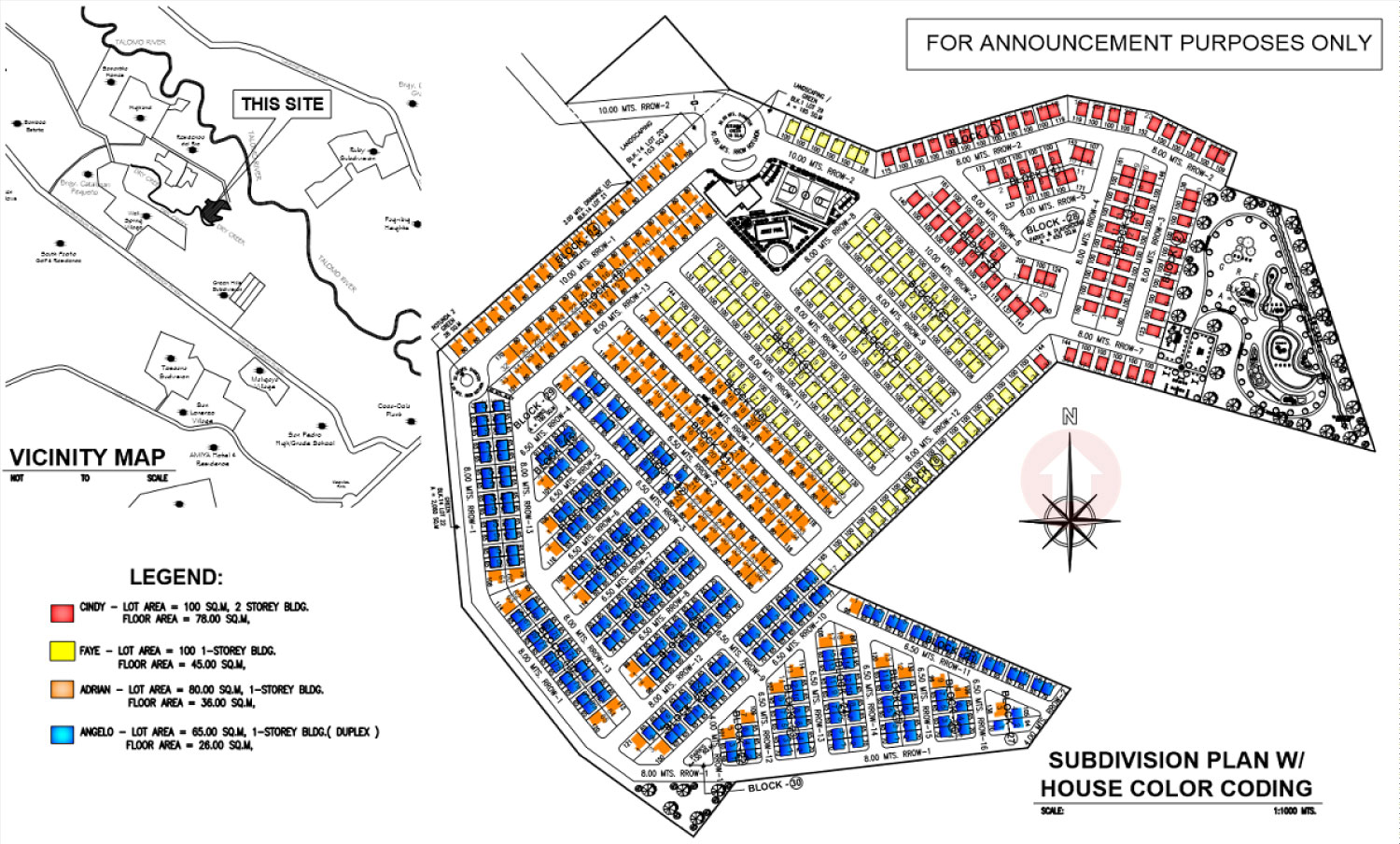 Granville iii subdivision economic and socialized housing for Sample site plan