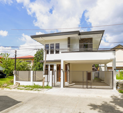 photo of house for sale in raintree loop, woodridge park subdivision, maa, davao city
