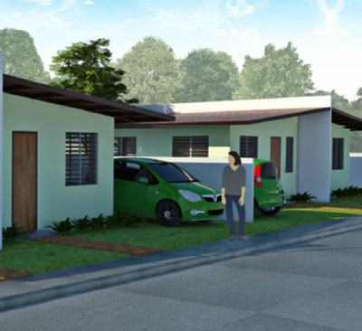 artist rendering of model house in Molave Homes Alabel Subdivision
