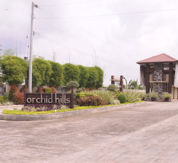entrance gate of Orchid Hills